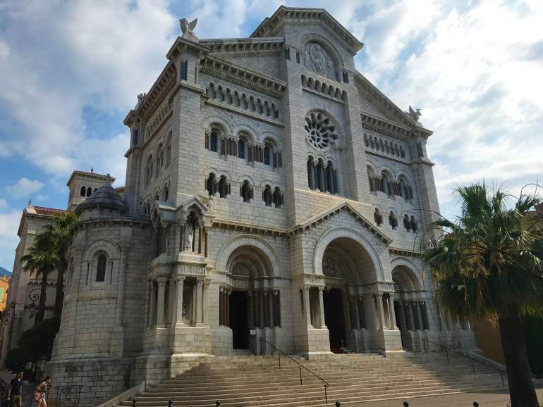 An outside view of St. Nicholas Cathedral in Monaco.
