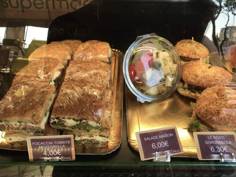 When visiting Monaco on a budget, you should aim to buy sandwiches like these.