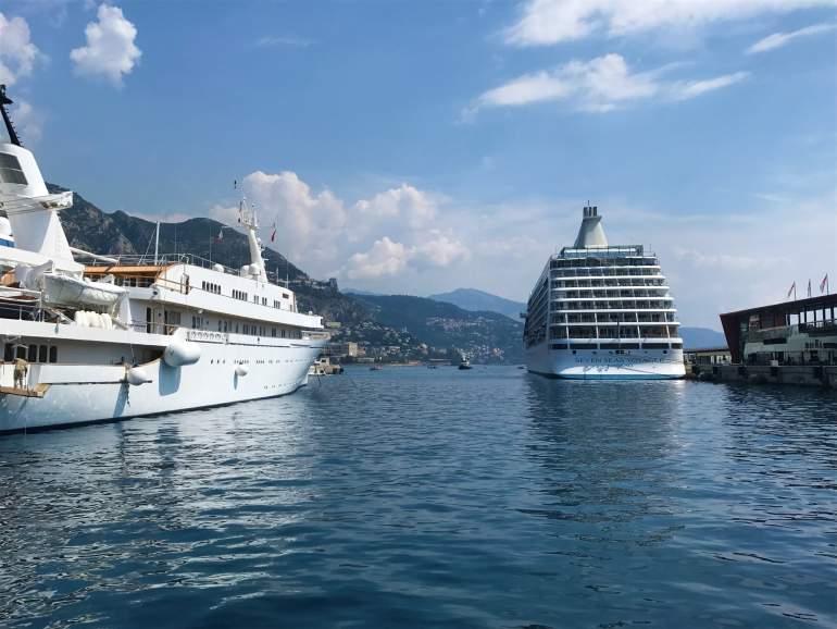 A cruise ship in Monaco.