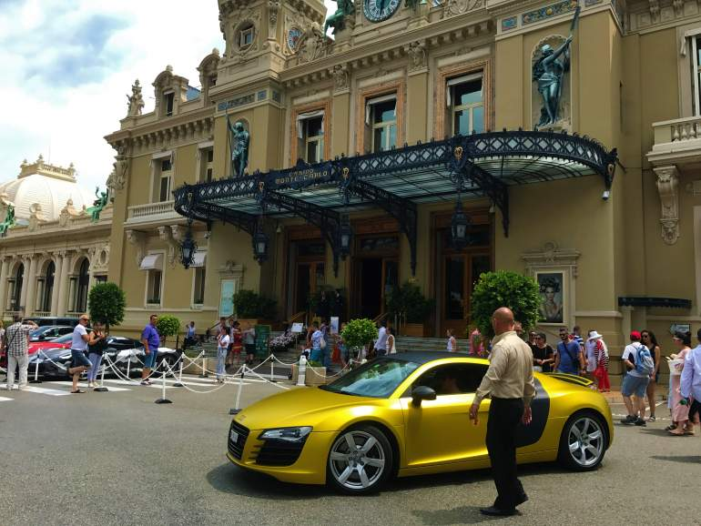 Outside view of the Casino de Monte-Carlo. Visiting it is a must-do during your day in Monaco.