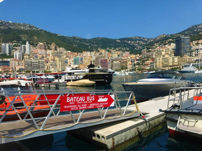 Ferry station in Monaco.