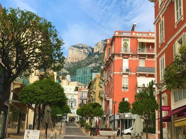 A shopping street in Monaco.