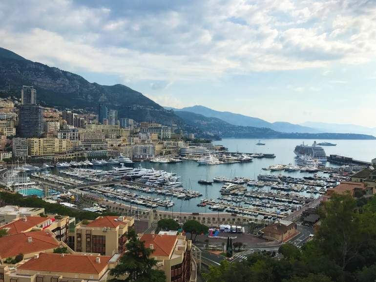 View of Monaco from the Prince's Palace in the old town.