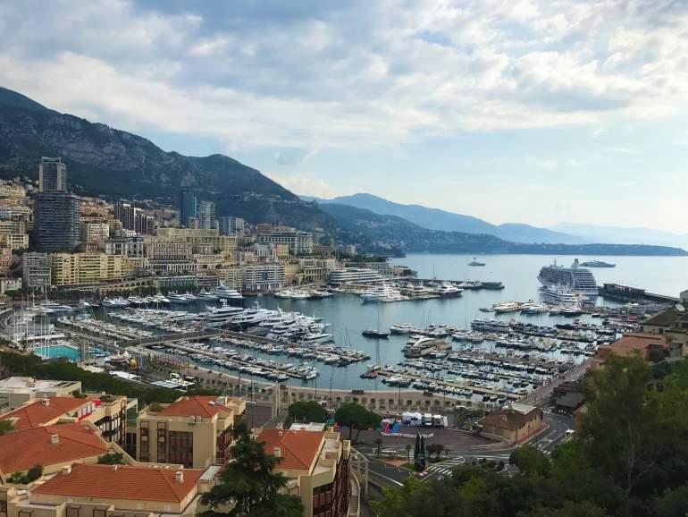 A view of the Monaco port.