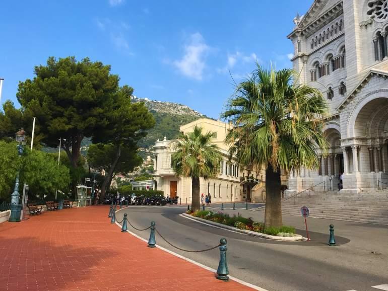 A wheelchair accessible pedestrian path in Monaco.