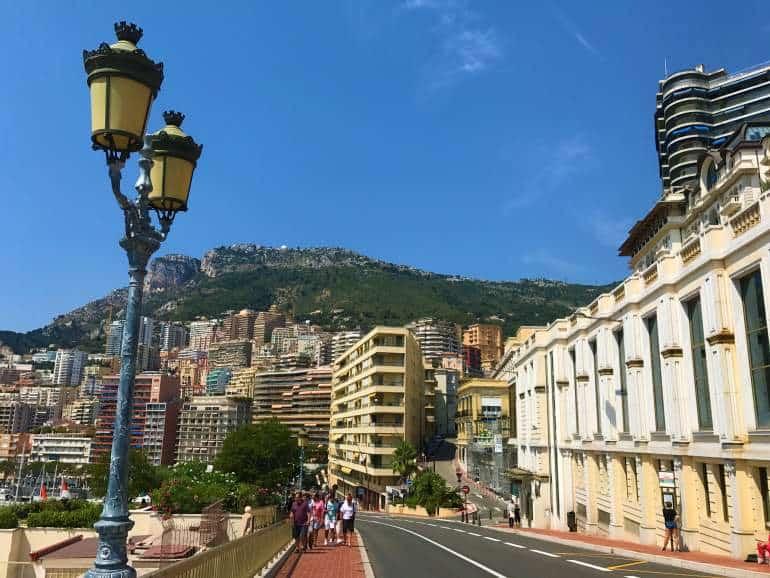 An accessible brick sidewalk in Monaco.