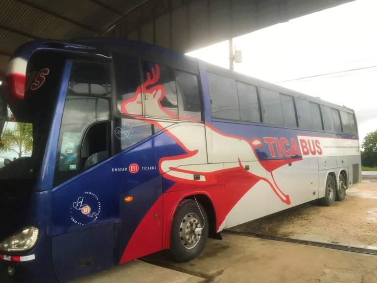 A Tica Bus in Costa Rica.