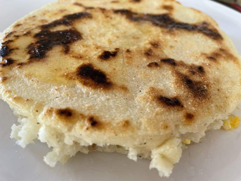 An Arepa from Mi Rinconcito in Playa del Carmen.
