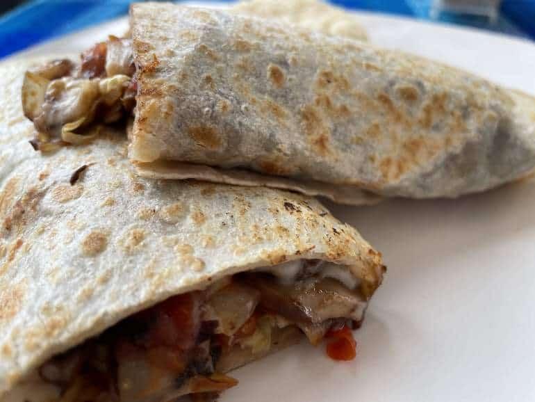 A veggie burrito.
