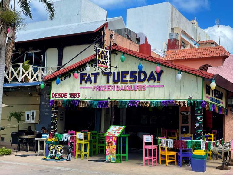 Fat Tuesday Restaurant.