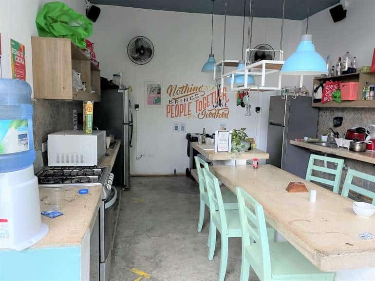 Selina Playa del Carmen kitchen.