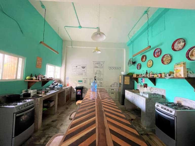 Kitchen at Selina Cancun Downtown.
