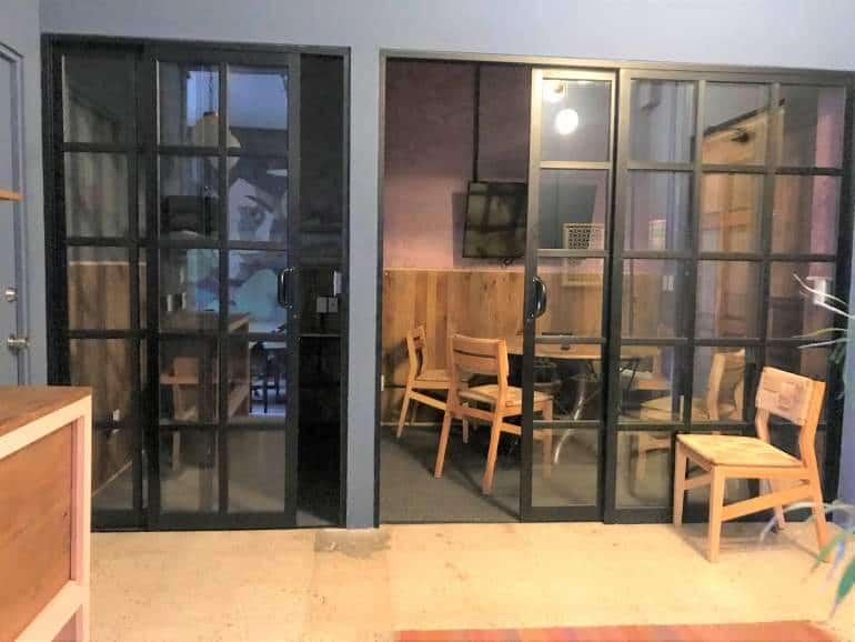 Meeting rooms at Selina Oaxaca Cowork.