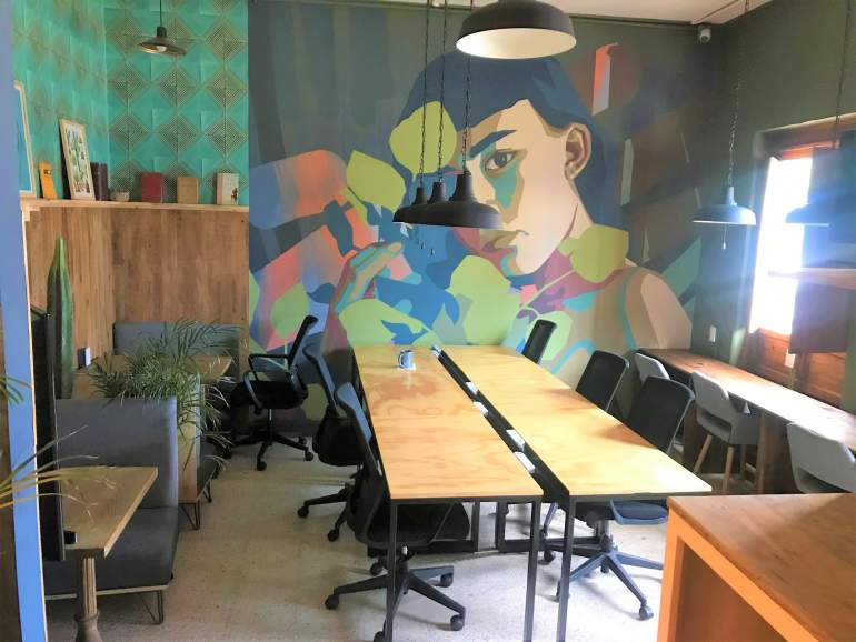 Selina Oaxaca cowork space.