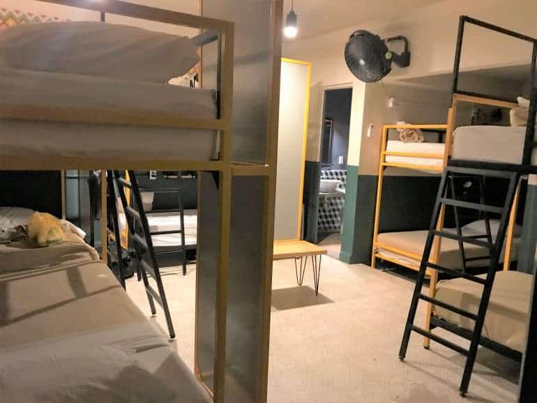 Dorm room at Selina Oaxaca.