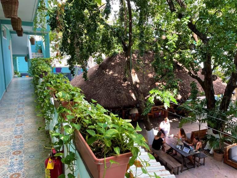 Selina Playa del Carmen balcony.