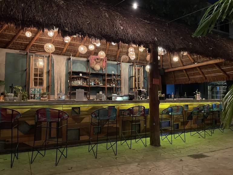 Bar at night.