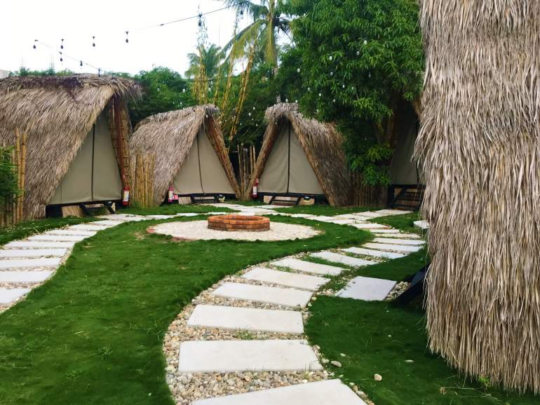 Teepee style rooms at Selina Puerto Escondido.