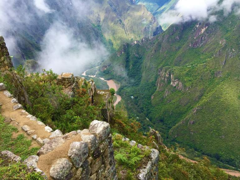 A view of the Urubamba River from Huayna Picchu.