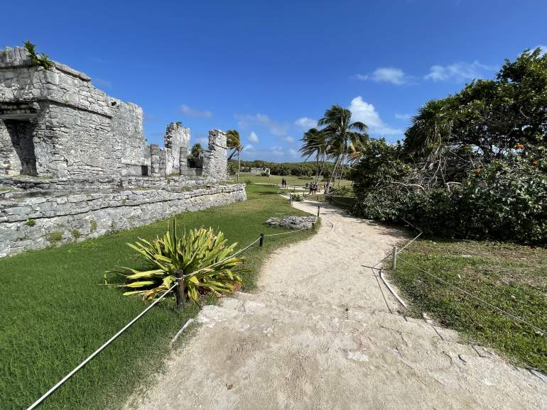 A rugged path at the Tulum Ruins.