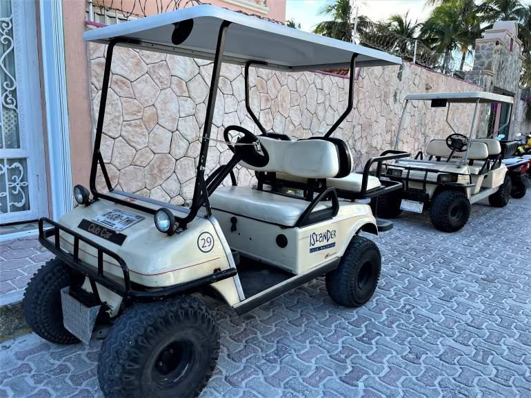 Isla Mujeres golf carts.