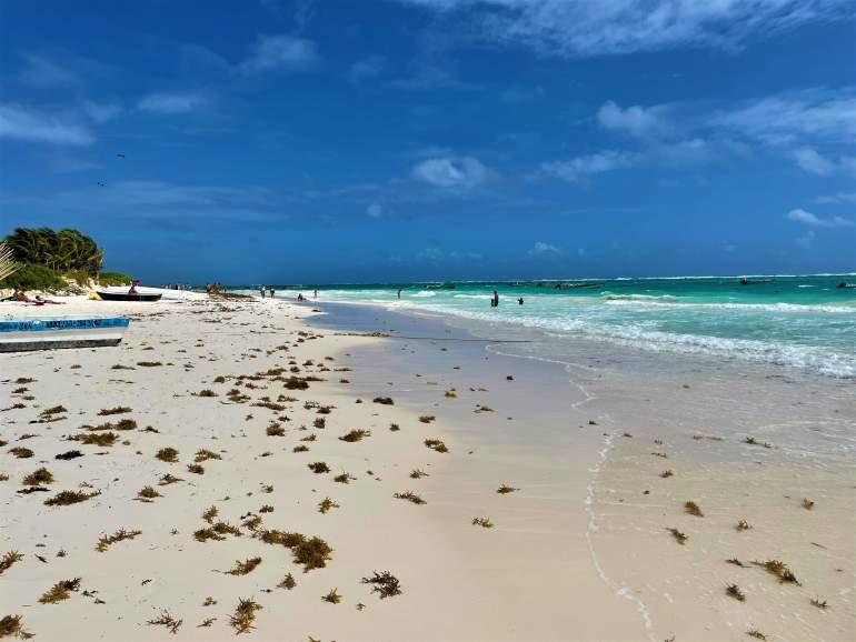 Beach at Playa Maya.