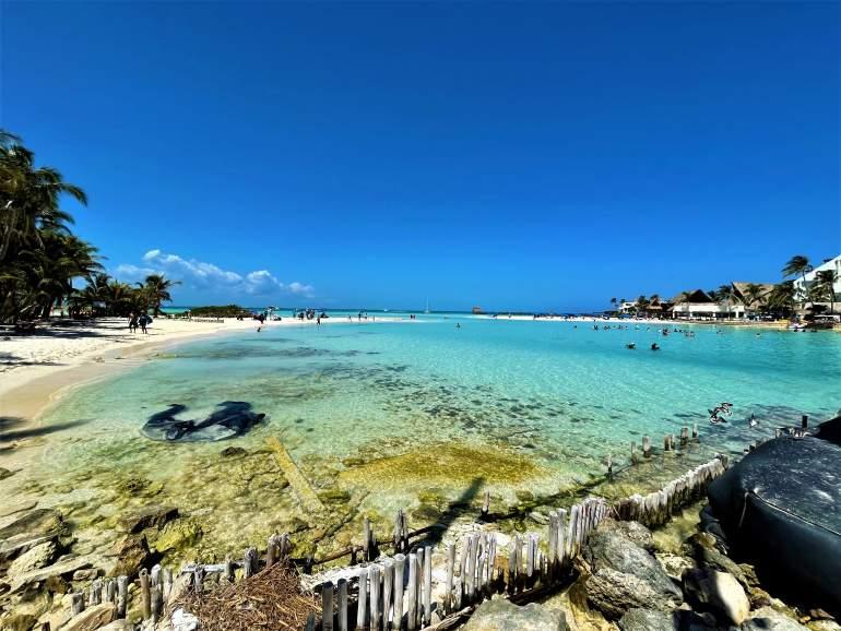 See through water at Playa Norte, Isla Mujeres.