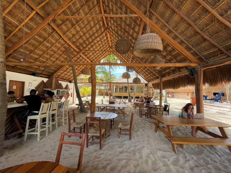 Restaurant at Selina Isla Mujeres.