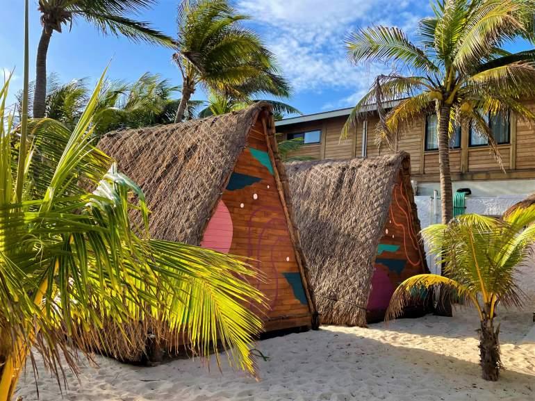 Tepees at Selina Isla Mujeres.
