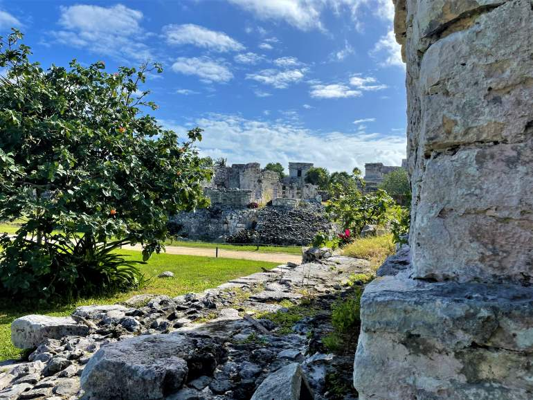 A view of the Tulum Ruins.