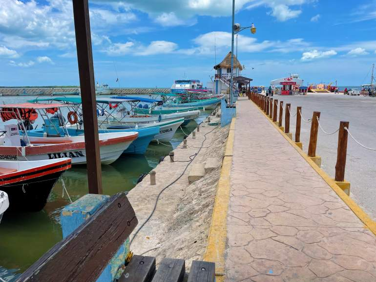 The wheelchair accessible Chiquila Port.
