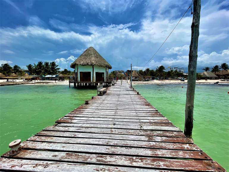 A wheelchair accessible dock on Holbox Island.