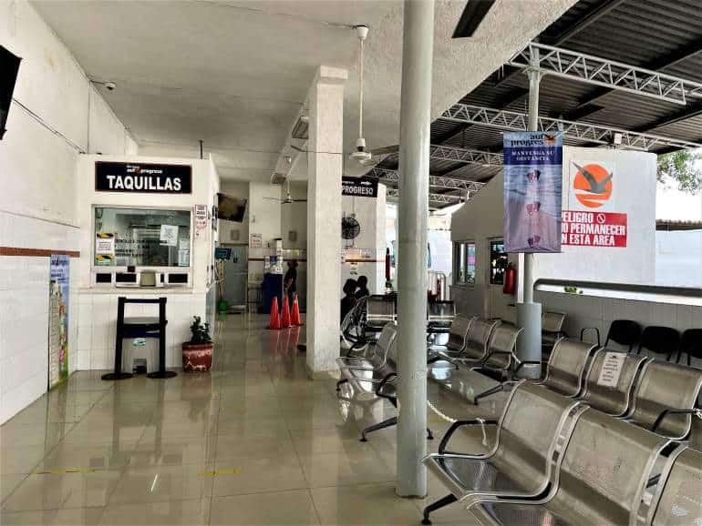 Autoprogreso bus station in Merida.