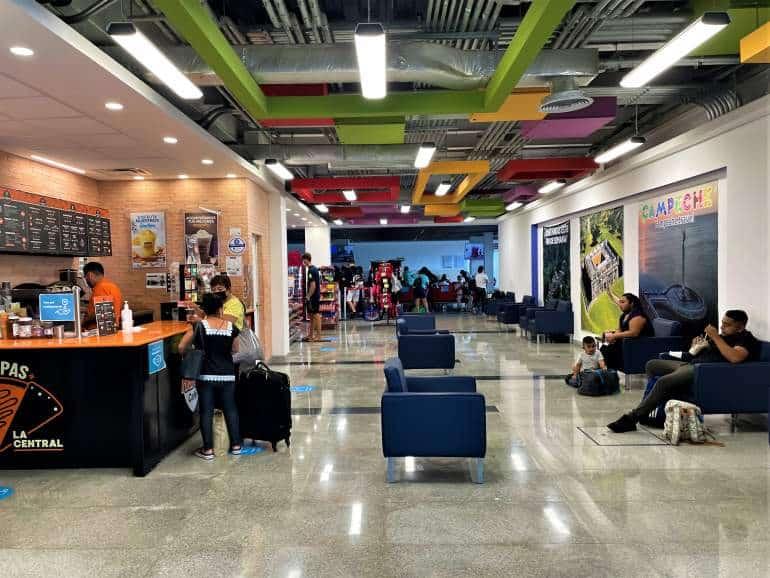 A cafe inside the Merida ADO bus station.