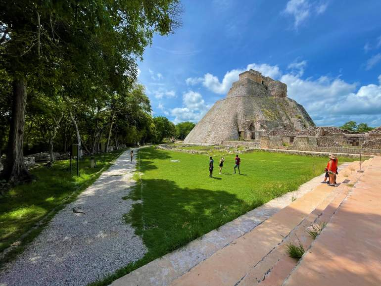 A lookout point over Uxmal.