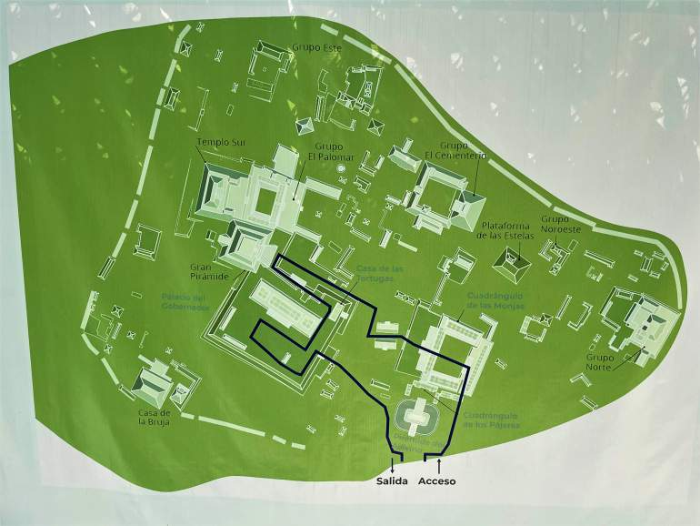 Map of Uxmal.