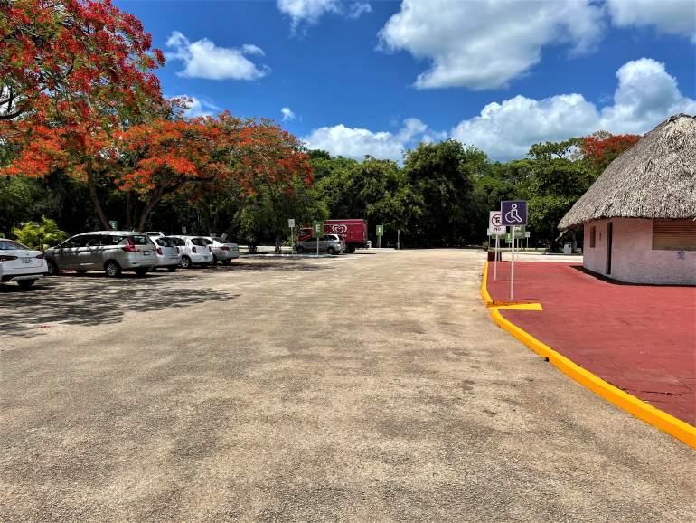 Parking lot at Uxmal.