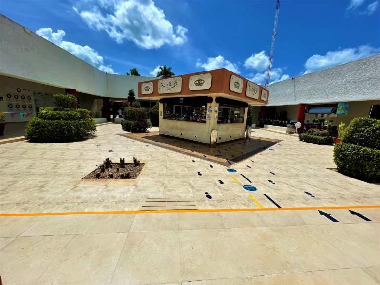 Shopping area at Uxmal.