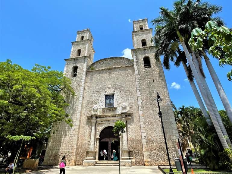 An outside view of El Jesus Church, Merida.