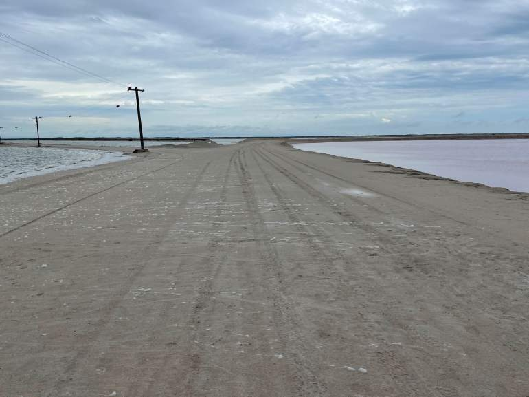 The path at Las Coloradas is wide and flat for wheelchair users.