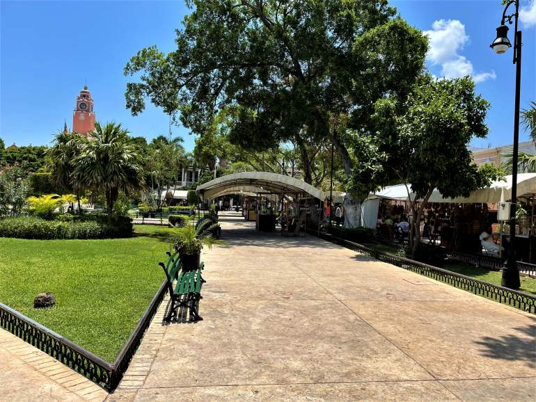 A view of Plaza Grande.