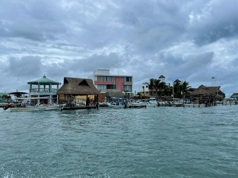 A view of Rio Lagartos town from the water.